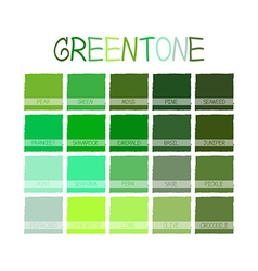 Greentone Color Tone vector