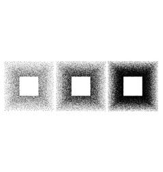 grunge spray stencil square frames gradient ink vector image
