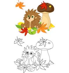 Hedgehog coloring page vector image