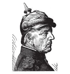 Helmuth karl bernhard graf von moltke vintage vector