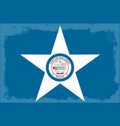houston city flag vector image