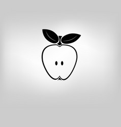 icon apple vector image