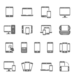 Icon set - responsive devices vector image