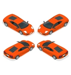 Isometric Sport cars Set of the car icons in vector image