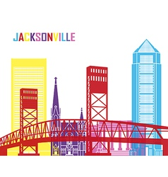 Jacksonville skyline pop vector