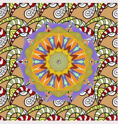 Kaleidoscope medallion yoga india arabic tribal vector