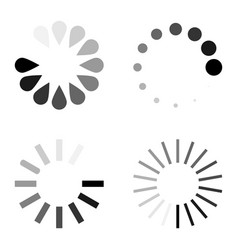 loading circle icon set flat vector image
