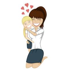 Lovin mommy forever vector