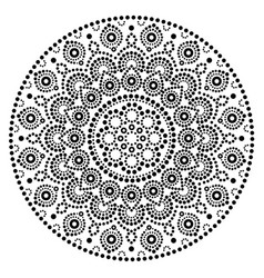 Mandala art australian dot painting black vector