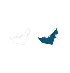 Map united arab emirates abstract design vector