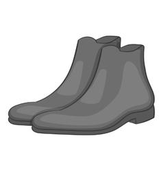 Men winter boot icon gray monochrome style vector