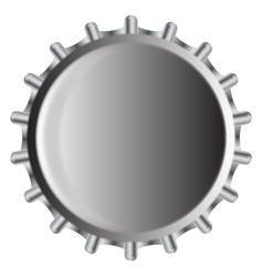 metal bottle cap vector image