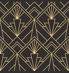 modern geometric tiles pattern golden lined shape vector image