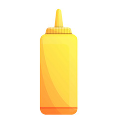 mustard plastic bottle icon cartoon style vector image