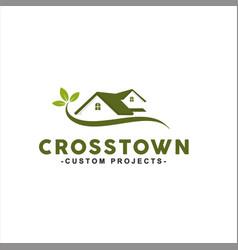 natural home logo design idea vector image