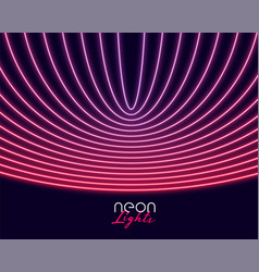 Neon lights in curve lines style abstract vector