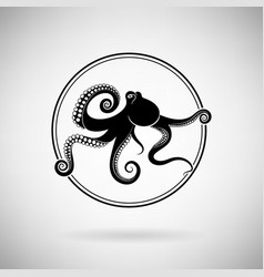 Octopus icon vector