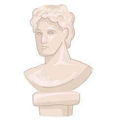 old greek statues roman ancient culture vector image