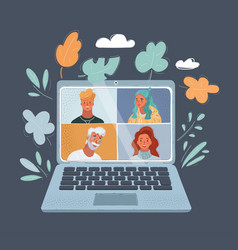 Online virtual meetings vector