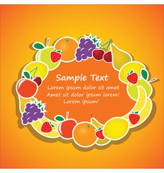 Oval frame from fruits vector