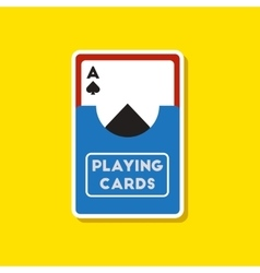 Paper sticker on stylish background playing cards vector