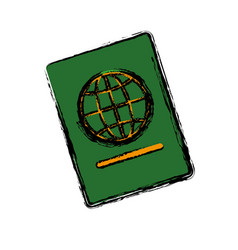 passport icon image vector image