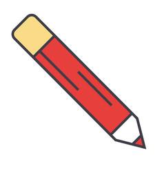 Pencil office contour concept line icon vector