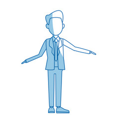 Politician man leadership character suit standing vector