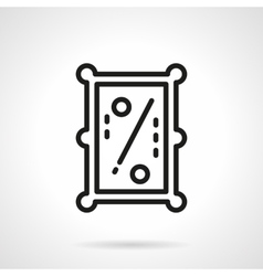 Pool table simple line icon vector