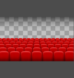 Red chairs of the cinema vector