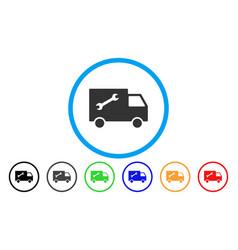 repair van rounded icon vector image