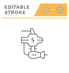 robotic machine part line icon vector image
