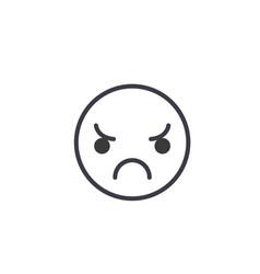 sad emoji concept line editable concept vector image