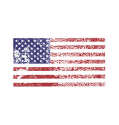 Simple grunge american flag for 4th july vector