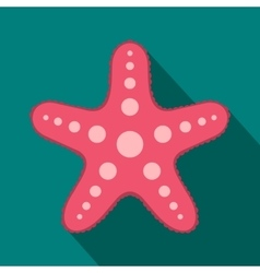 Starfish icon flat style vector image