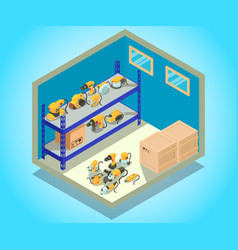 Storehouse concept banner isometric style vector