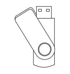 Usb flash drive backup stationery office element vector