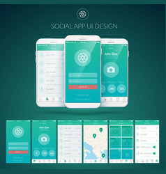 user interface design concept vector image