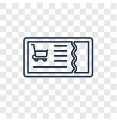 voucher concept linear icon isolated on vector image