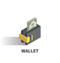 wallet icon symbol vector image