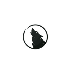 wolf logo design template vector image