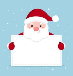 xmas of funny santa holding vector image
