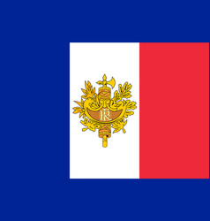 flag and coat of arms of france vector image