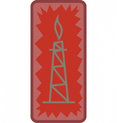 oil tower vector image vector image