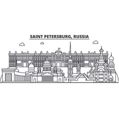 russia saint petersburg architecture line skyline vector image