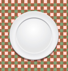 tablecloth and plate vector image vector image