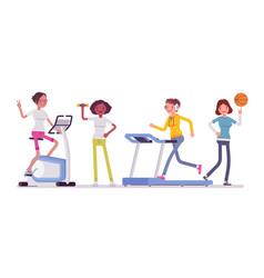 women fitness club vector image