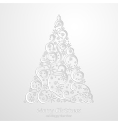Absrtact Floral Christmas Tree Background vector image