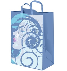 Beauty Paper bag vector image