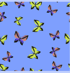 Colorful butterflies seamless summer pattern vector